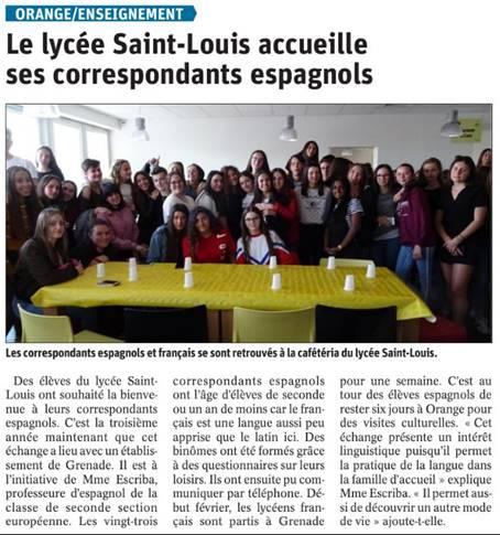 Le lycée Saint-Louis accueille ses correspondants espagnols