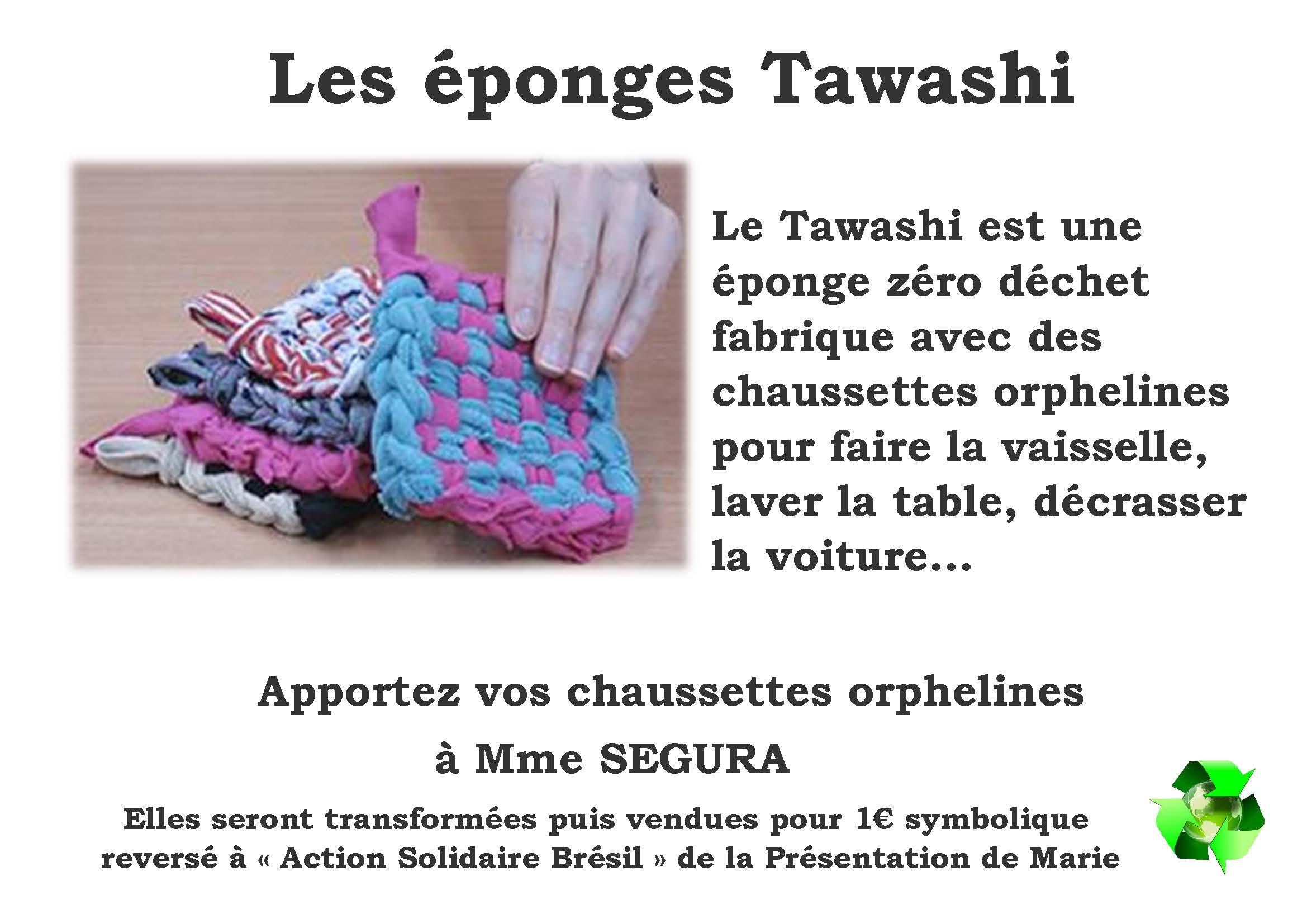 Les éponges Tawashi